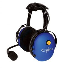 CH-10 Over-the-head dual muff headset with yellow mic on/off button, 24 dB NRR