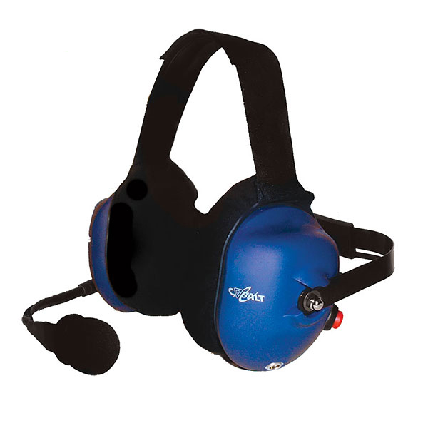 CH-21 Behind-the-head dual muff headset with red PTT button, 24 dB NRR